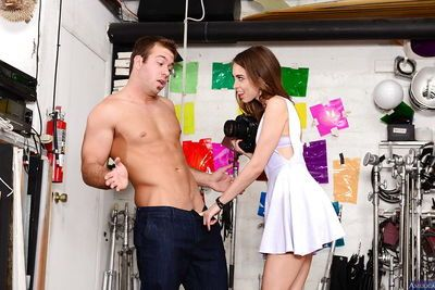 Riley Reid will take some pictures and suck a really huge pecker