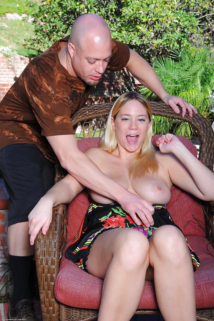 Busty girlfriend Valerie playing with large all natural boobs