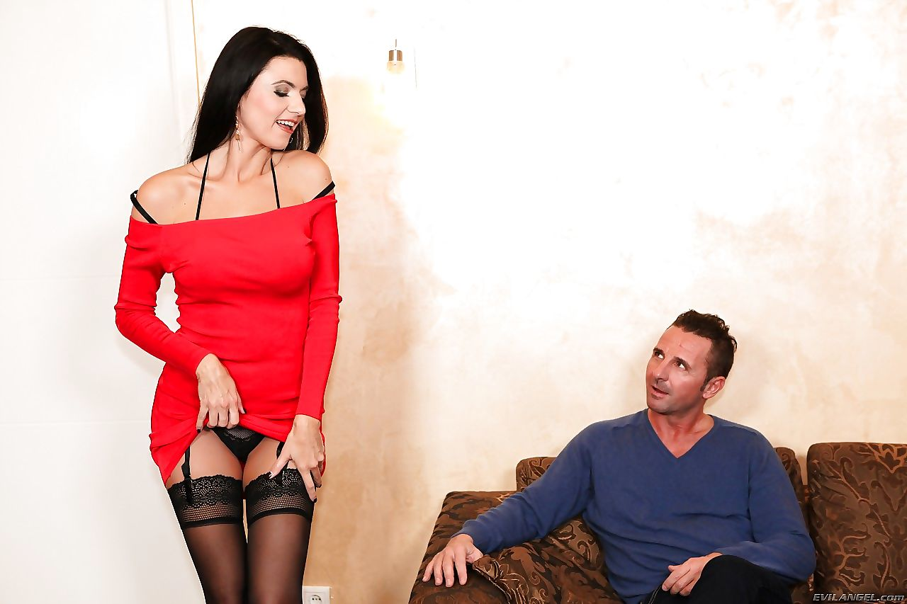 Stockings clad Ania Kinski gets pussy licking- ass fucking & shows anal gape