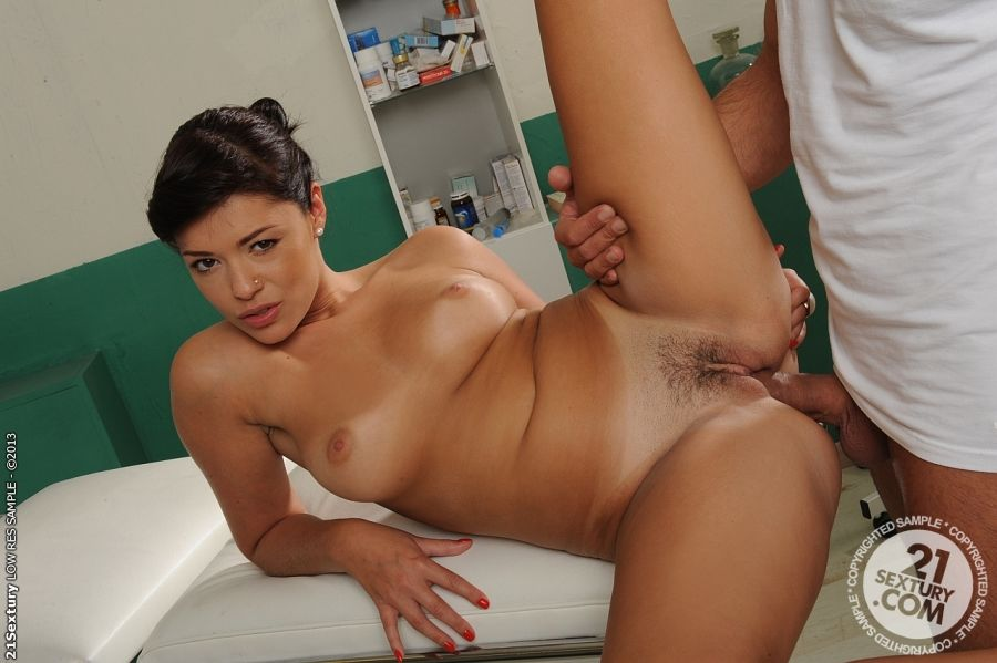 European nurse Ava Dalush has her pussy nailed in a uniform - part 2