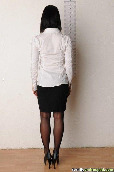 Staff perverts undress a secretary candidate