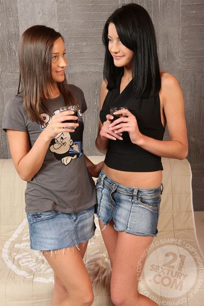 Lezcuties waiting for you with barely legal anal addict lesbian teens. don