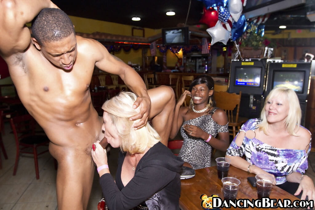 Clubbing chicks get drunk and bang males strippers as well as each other