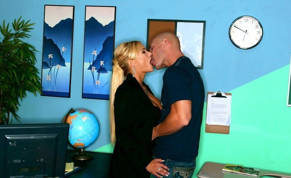 MILF teachers with huge tits Carmella Bing and Shyla Stylez in threeesome