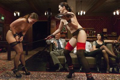 Founding house slave sarah shevon returns to the upper floor to initiate newcome