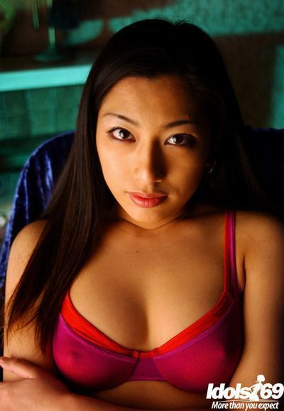 Stunning asian babe Ran Asakawa uncovering her petite tiny tits