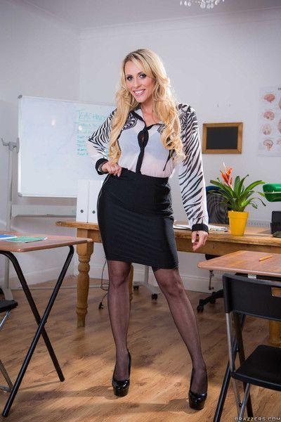 Naughty substitute teacher brittany bardot fucks her student in