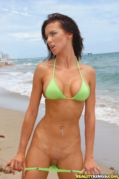 Outdoor boob milf bikini posing and wild hardcore indoor fuck