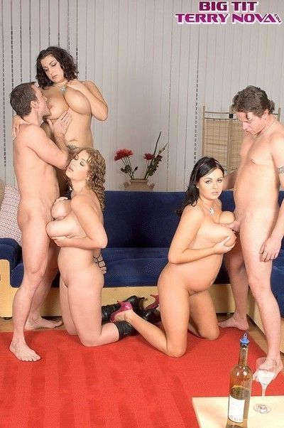 Czech orgy with big natural tits and pretty faces