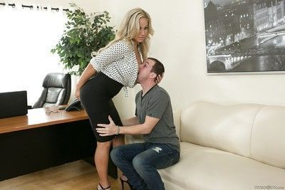 Awesome blonde gal Olivia Austin fucks her co-worker with such a grace
