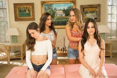 Carter cruise and lesbian girlfriends riley reid, jenna sativa, chloe amour mass