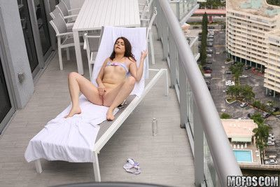 Kylie quinn bangs her voyeur on the hotel balcony