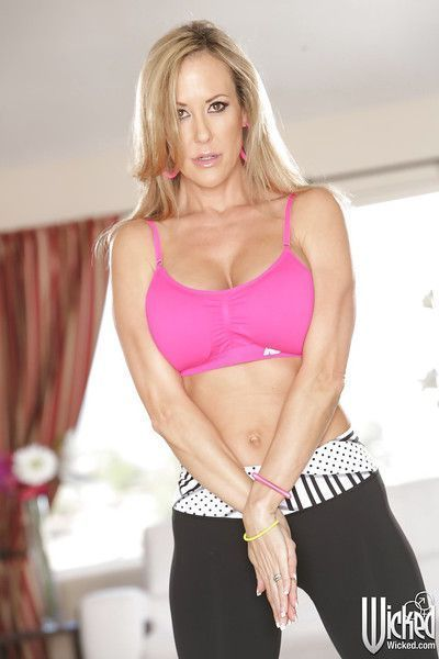 Tough mature babe Brandi is going to make all the dicks hard today