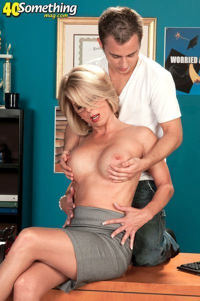 Mature lady boss fucked without condom