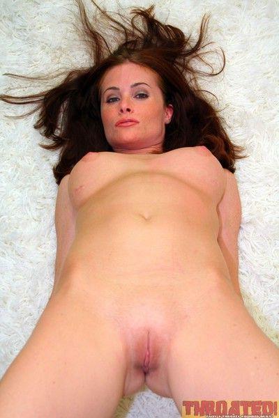 Hottie ginger lea taking a cock deep in her throat