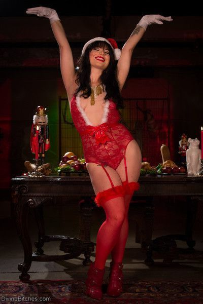 Mistress siouxsie q james celebrates the holidays training divine bitches newest