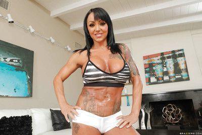 Tattooed Latina MILF Ashton Blake shows off her sweet big natural tits