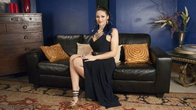 Kiki sweet is snooping around in a room at a boring dinner party. aubrey kate wa