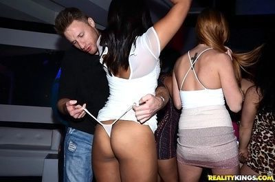 Nasty latina wants to be a part of a party orgy to be banged hard