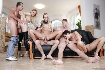 Wild orgy with sexy milfs Gabrielle Gucci, Jenny Simons, Gina Momelli