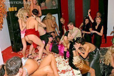 Lecherous european MILF enjoy a wild sex orgy at the glamorous party