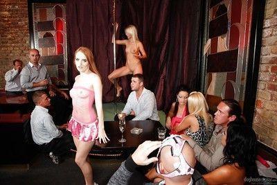 Slender sluts are fucking after hardcore striptease session!