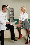 Hardcore fuck with a beautiful European nurse Kiara Lord and her patient