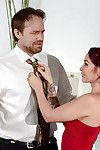 Inked masseuse Monique Alexander sends hubby to work before fucking her client