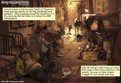 Adult comic be worthwhile for rich pet helping the homeless with dirty needs